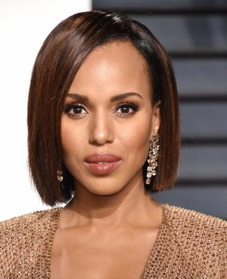 peinados para aretes largos kerry washington