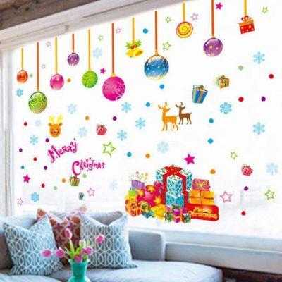 vinilo decorativo navidad esferas