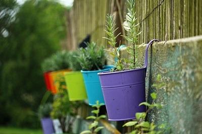 maceteros de pared jardín
