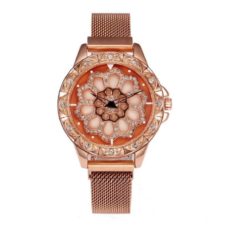 reloj de mano para mujer malla milanesa