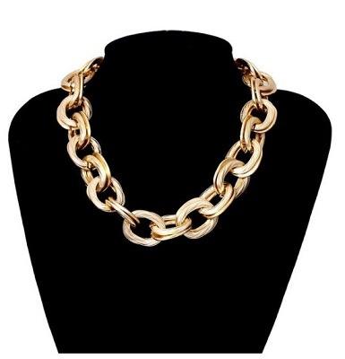 accesorios de moda collar de cadena gruesa