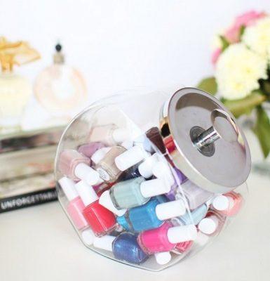 como organizar esmaltes de uñas