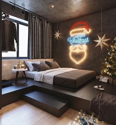 decoracion con luces de navidad