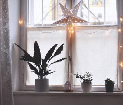 decoracion de navidad en ventanas