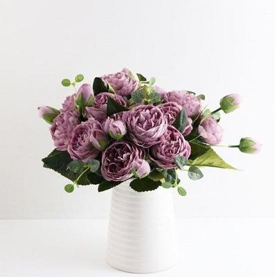 flores artificiales decoración