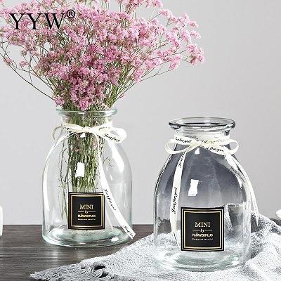 floreros de cristal decorados