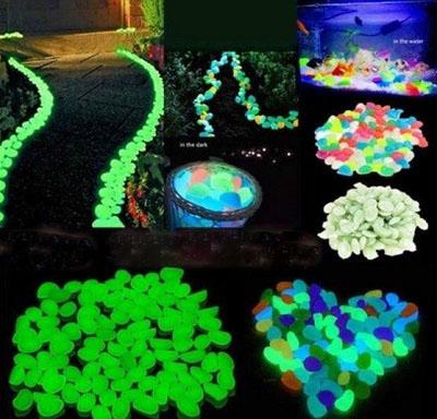 piedras luminosas para jardín