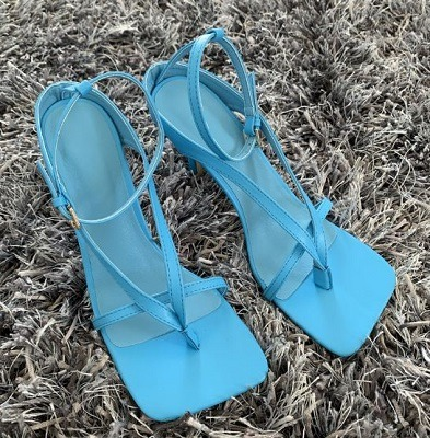 sandalias de punta cuadrada 2020