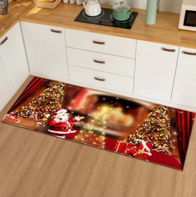 tapete cocina navideño
