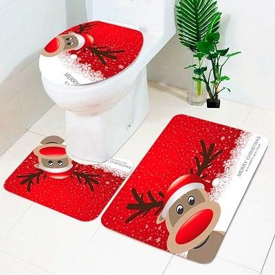tapete navideño para baño