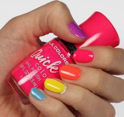 uñas de cada color