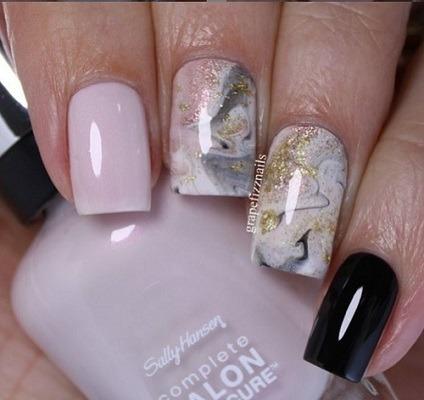 uñas de marmol