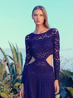 vestidos a la moda 2020 crochet